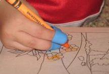 Schrijfmotoriek bij kinderen, by fysiotoys / Het oefenen van schrijfbewegingen is nodig voor een goed handschrift.