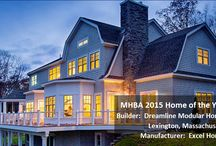 2015 MHBA Home of the Year / The Modular Home Builder Association chose this beautiful custom home built by Dreamline Modular Homes as the 2015 Home of the Year.  Are you surprised this is a modular home?  You shouldn't be, modular construction can be used for any type, size and style of home.   Would you also be surprised to find out that modular homes are stronger, greener, and built to higher quality standards than site built homes?    Visit https://www.excelhomes.com to learn more about modular construction.