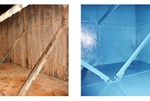 Water tank lining / Examples of our water tank lining work. Before and after pictures.