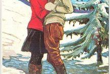 vintage skiing