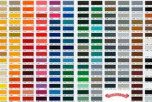 Color Swatches and Material Swatches / Showing homeowners and business owners examples of the color and material of our garage doors.