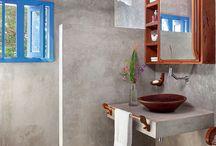 Banheiro Em Cimento