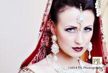 Asian Wedding Dress Fashion Shoot / Asian wedding fashion shoot. 4 beautiful models  photographed by PJL Photography