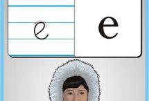 Litery, nauka pisania, grafomotoryka