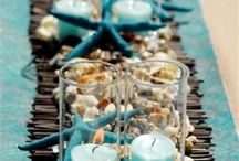 Beach themed tables