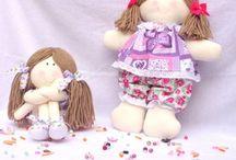 bonecas de pano / bonecas de pano lindas para decorar e brincar