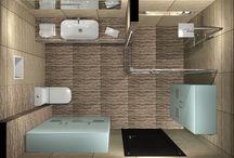 ACROPOLIS, Πρόταση μπάνιου / Τα σχέδια έγιναν για μπάνιο σε κατοικία στην περιοχή Θεσσαλονίκης και βασικό στοιχείο αποτελούν τα πλακάκια από την σειρά Acropolis με διάσταση 30x60cm. www.e-bath.net