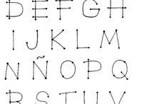 Lettering Alfabeto