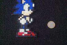 Sonic / Le monde de Sonic en perle hama