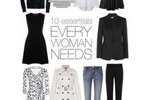 outfits / simple outfits, garderoba dla minimalistki, francuski szyk,