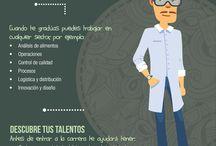 Infografías Carreras / Descubre las ventajas y beneficios que tiene cada una de nuestras carreras.
