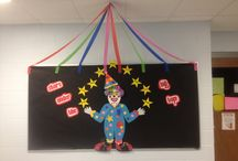 """Stars under the big TOP / When the kids come back to school they will be welcomed with fun, colorful decorations that will make them say, """"Wow!"""" I can't wait to see their faces! This is currently a work in progress, so stay tuned to this board for more updates! / by Addie Gaines"""