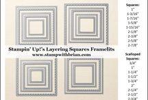 Stampin up framelit sizes