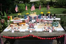 Red, White & Blue / Patriotic Décor and Food