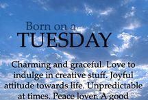 I was born on a Tuesday
