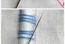 bordados / Pasta com gráficos de ponto cruz croche  bordados trico