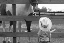 Cute kids with horses