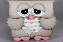 Owl shape cards