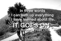 My Life in Quotes / Quotes I feel that express my life in various ways, also that i feel that will later express my life as I go on through it.