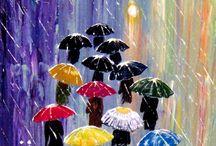 Rainy days and umbrellas