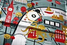 Map carpet for kids inspiration / We are designing a custom designed modular carpet family for kids. Each family would represent one iconic city: London, Paris, Berlin, Budapest