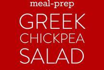 Meal prep and Greek salad