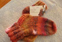 Meias com 4 agulhas / Meias em tricot feitas com 4 agulhas