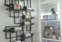 Хранение вина на стене / идеи как сделать место для хранения вина
