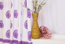 Paisley Shower Curtains / Decorative Shower Curtains - Country Bath Décor - Paisley Shower Curtains