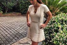 вязаное платье от Ванессы