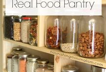 Kitchen & Pantry Management / Equip the kitchen and pantry to suit your dietary and financial needs! Learn of organizational tips, how to avoid waste, stock food, buy in bulk, meal planning and more!