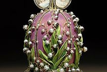 Imperial Faberge Eggs / A Fabergé egg is one of a limited number of jeweled eggs created by Peter Carl Fabergé and his company between 1885 and 1917. The most famous are those made for the Russian Tsars Alexander III and Nicholas II as Easter gifts for their wives and mothers, often called the 'Imperial' Fabergé eggs.