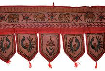 Door hanging ,hanging doors , Embroidered Door hanging , Home decorative Door hanging / ANTIQUE Vintage TORAN VALANCE Hand Embroidered Decorative TORAN make them perfect to enhance the dacor of different houses....   Colorful and at most times traditionally adorned with flowers and symbolic leaves, the doorway characteristically blesses every person that walks under it showering them with an abundance of love, prosperity, health and happiness.