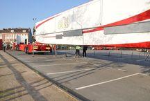 Dunkerque sur le quai Leith au Pôle marine / Depuis le lever du soleil ,l'installation du cirque Arlette Gruss à Dunkerque sur le quai Leith au Pôle marine . Photos de Willy's .