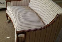 Paint fabric on furniture.
