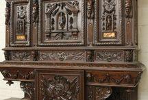 Резная мебель и интерьер