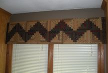 quilted valances/curtains
