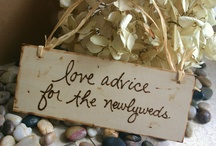'Leave us a Love Note' Inspirations / Create cosy spaces & interesting ways for guests to leave the bride and groom a love note. Fill the space with interesting bits and bobs... / by Natural Nostalgia