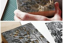Block printing / Batek metal block, wood carved block, natural materials as fabric printing blocks.