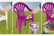 peindre des chaises plastics