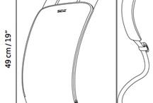 Measurements / Base bag: width 45, depth 22, height 38cm