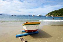 Barcos / Barcos nas praias de Santa Catarina