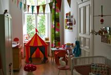 Kid's Room / We're about to move Hattie into the same room with Micah (until Elle is older and the girls have a room).  I'm looking into to ways to make it fun as well as somewhat gender neutral (and affordable).  I'm open to suggestions!