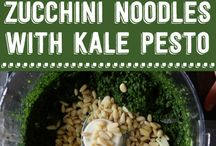 Noodles with Kale Pesto
