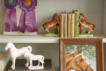 Equestrian for the home / Equestrian themed  home decorating, includes beautiful vintage horse things to crave and wear
