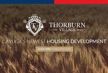 Thorburn Village / Upcoming housing development in Cayuga, ON