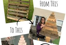 Wood Pallet Crafts / by Emily Tebbs