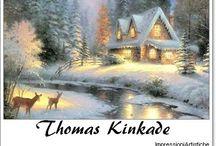 ⊱Thomas Kinkade ~ Landscape///Christmas⊰ / ≻ Thomas Kinkade ~ Sacramento, California, January 19, 1958 ≺ Thomas Kinkade  is an American painter of popular and commercial realistic, bucolic, and idyllic subjects.