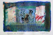 DAGMAR REYMER Gelli-Paintings