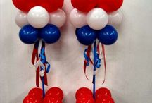 Patriotic Balloon ideas / Red White Blue Balloon Decor 4th of July Memorial Day Labor Day